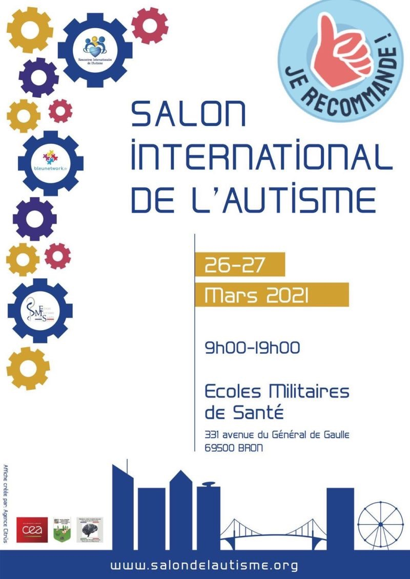 Affiche du salon international de l'autisme 2021